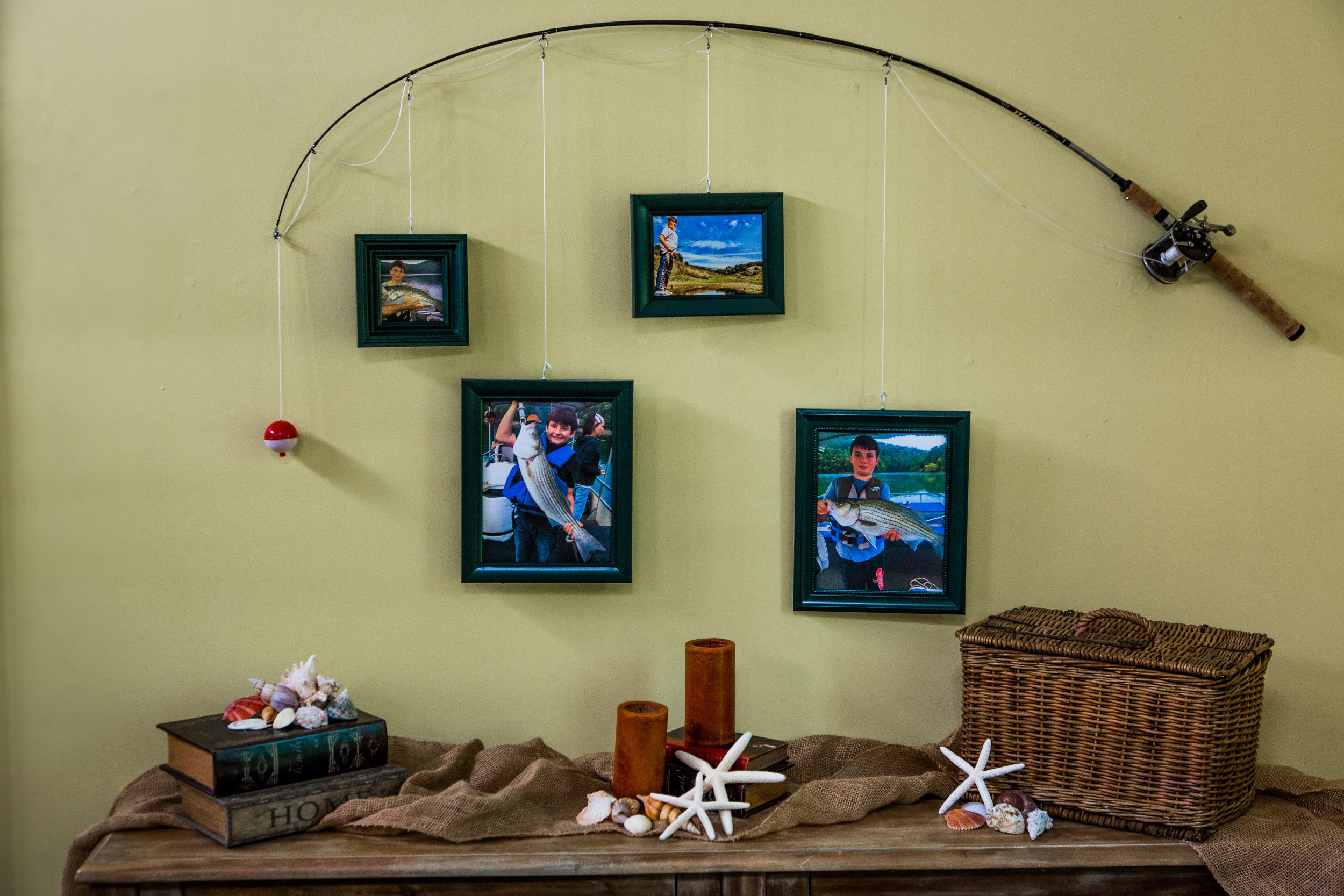How To Diy Fishing Pole Frames Home Amp Family