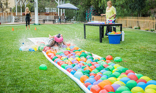 Tanya Memme's DIY Water Balloon Water Slide   Hallmark Channel
