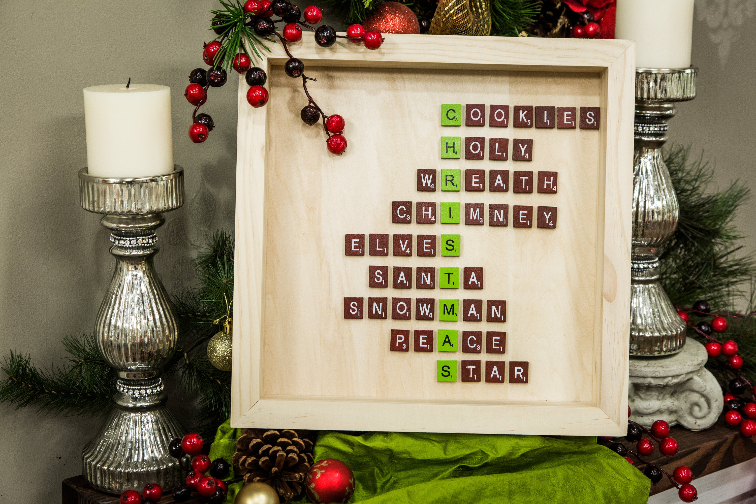 Diy Scrabble Art How To Hallmark Channel It Was So Simple I Also