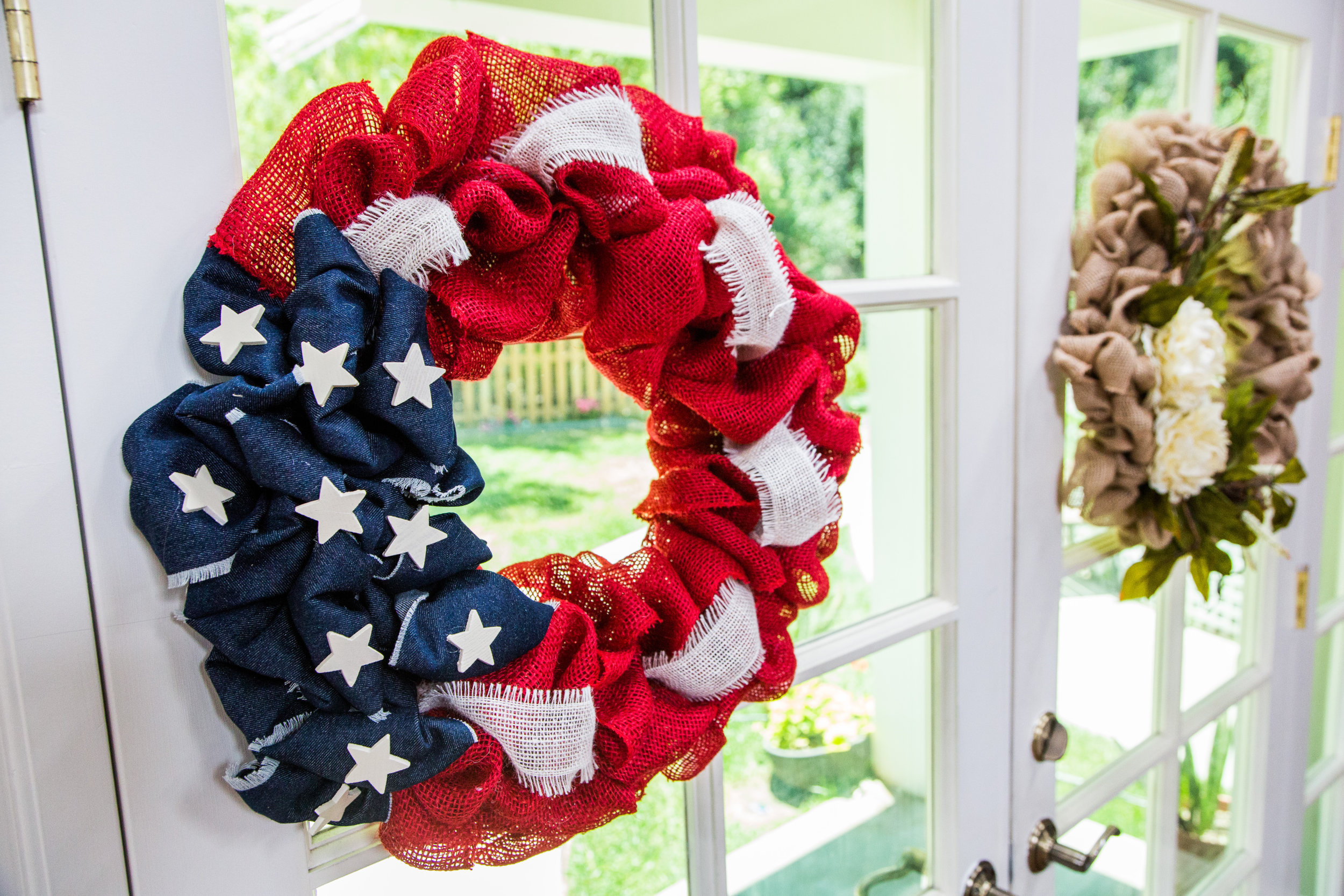 How To 4th Of July Burlap Wreath Home Amp Family