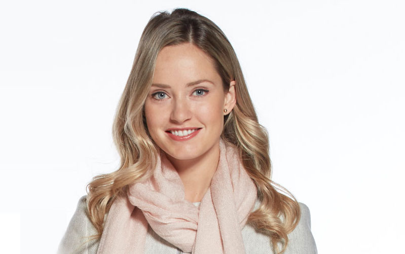 Merritt Patterson as Katie on Christmas at the Palace | Hallmark Channel