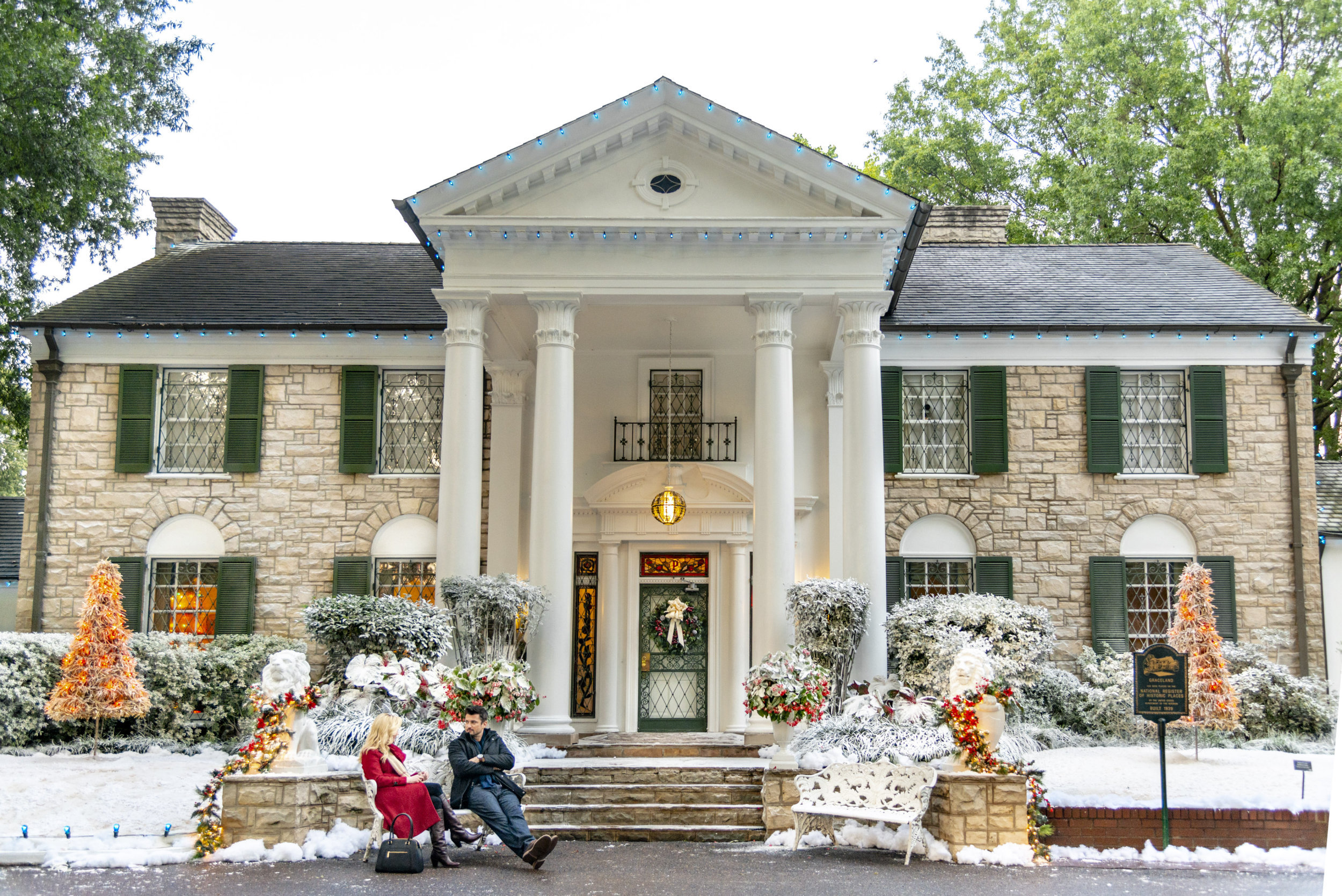 On Location - Christmas at Graceland - The Mansion | Hallmark Channel