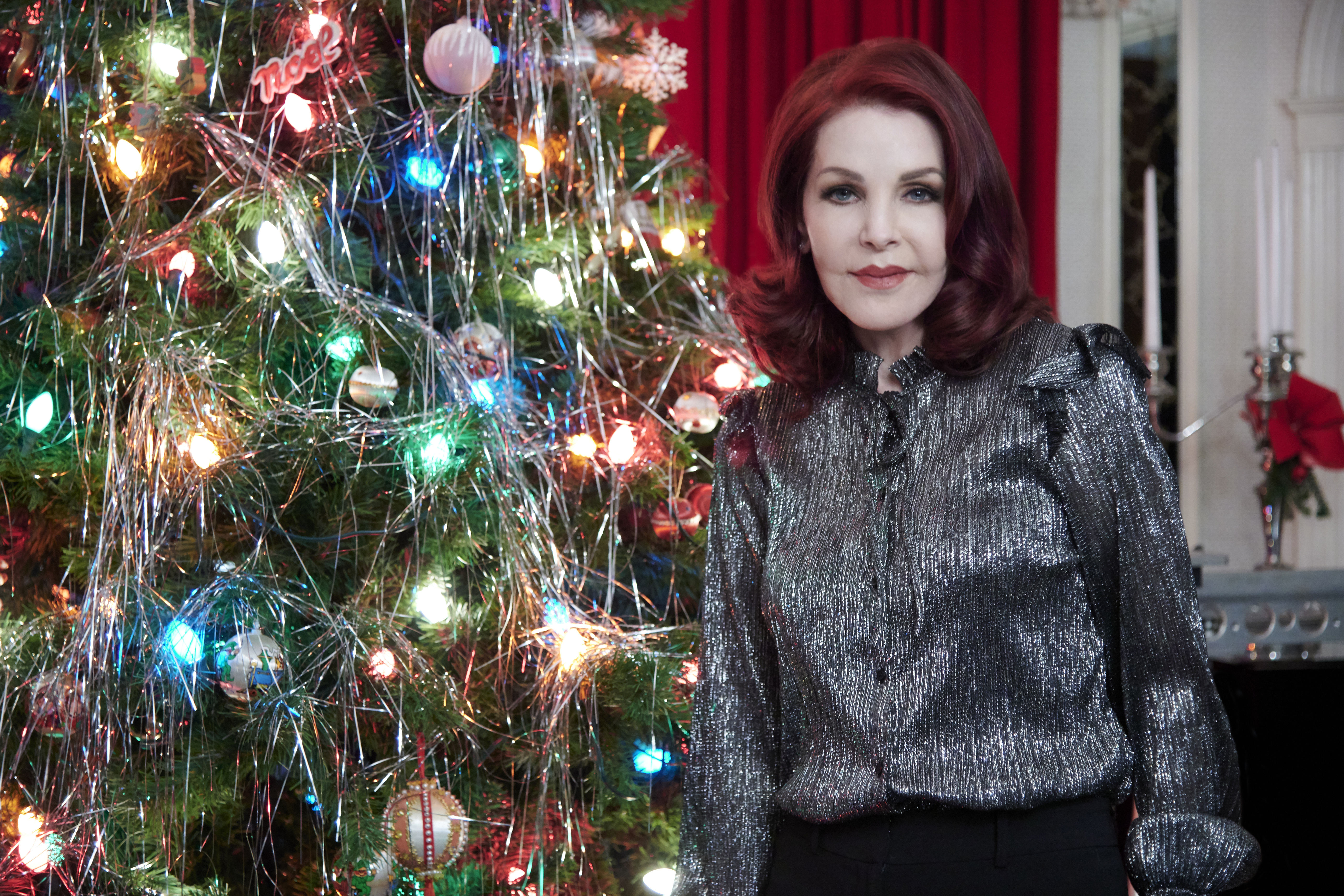 Christmas At Graceland.Priscilla Presley As Herself On Christmas At Graceland Home