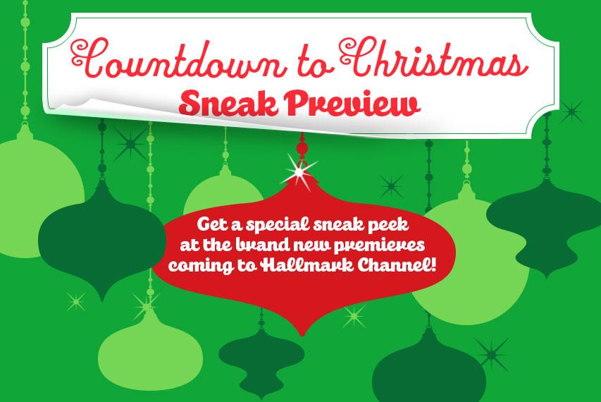 countdown to christmas 2015 sneak preview hallmark channel - Countdown To Christmas 2015