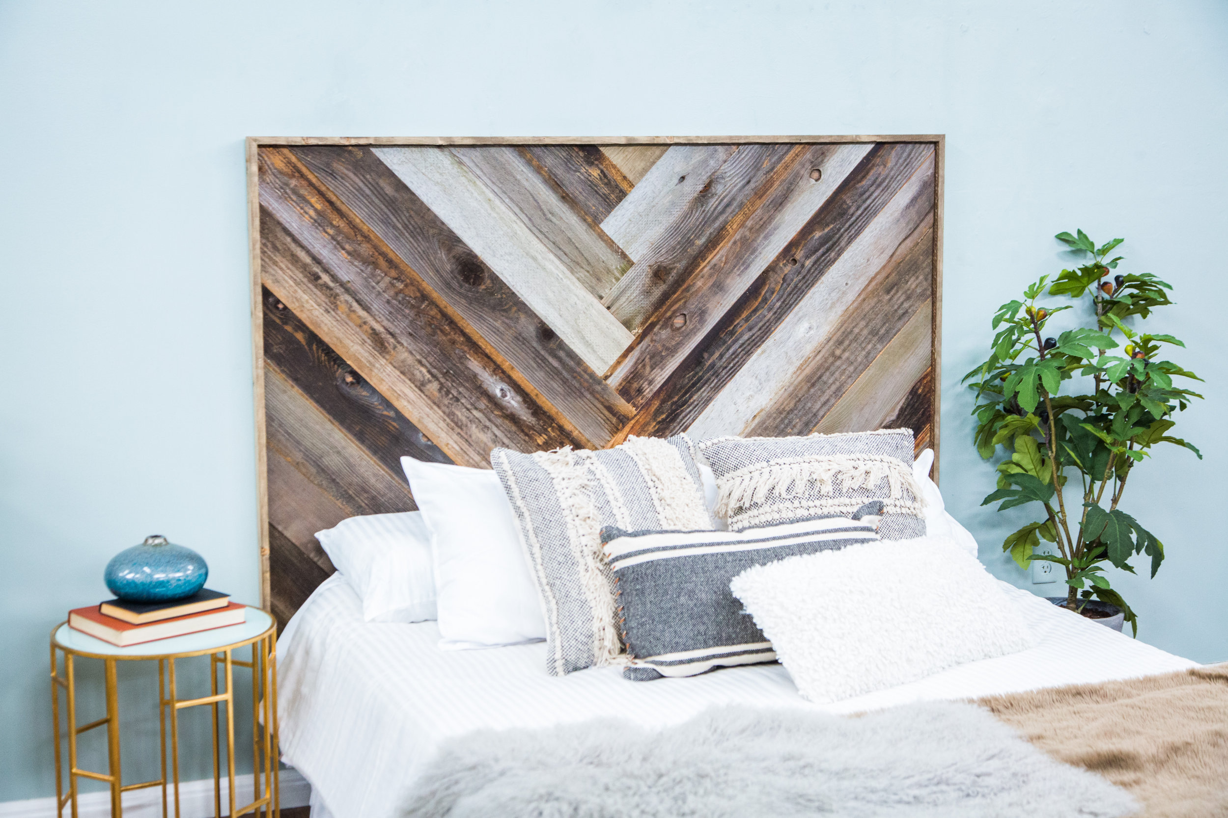 How To Diy Reclaimed Wood Headboard Home Family Hallmark