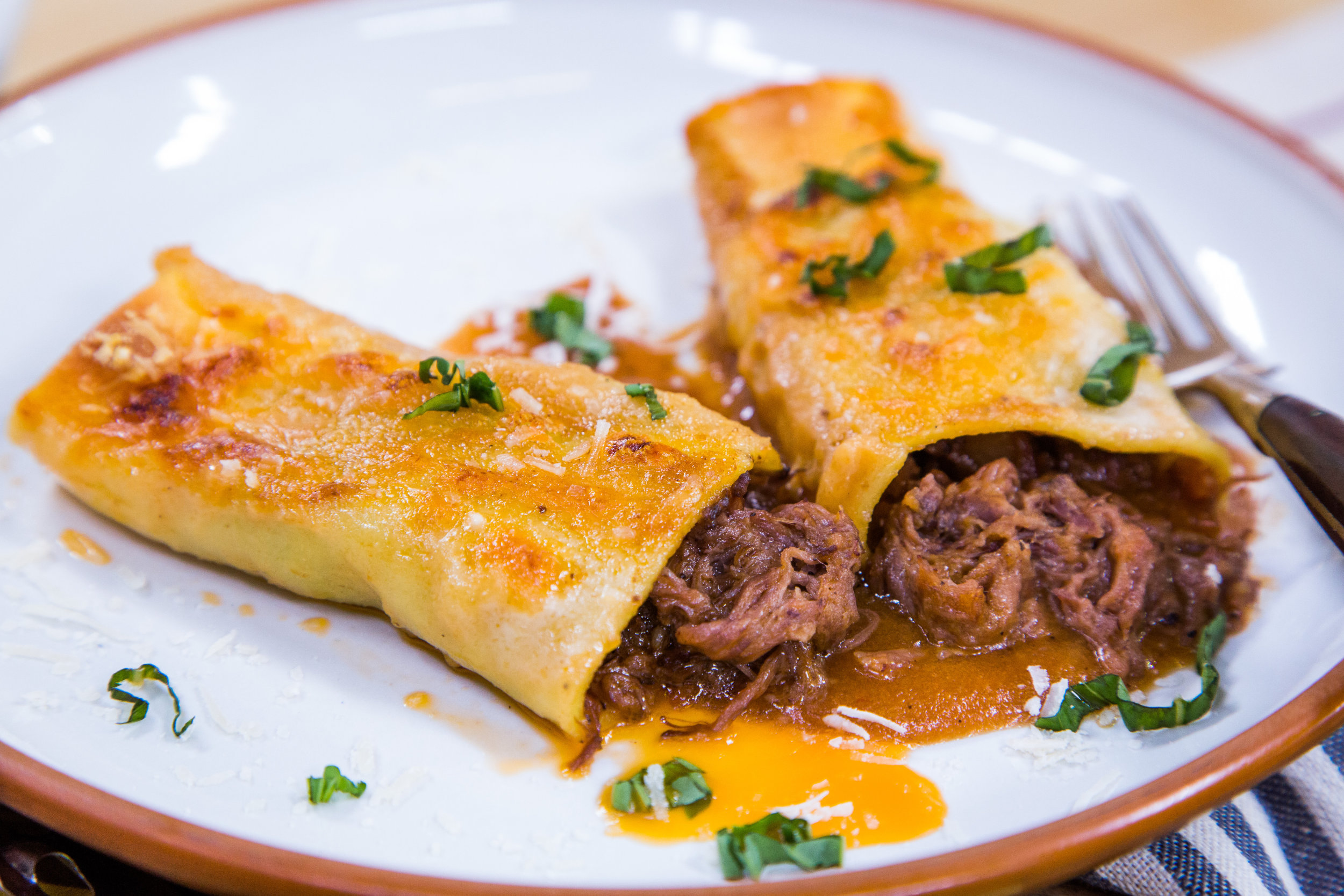 beef cannelloni with taleggio sauce home family hallmark channel