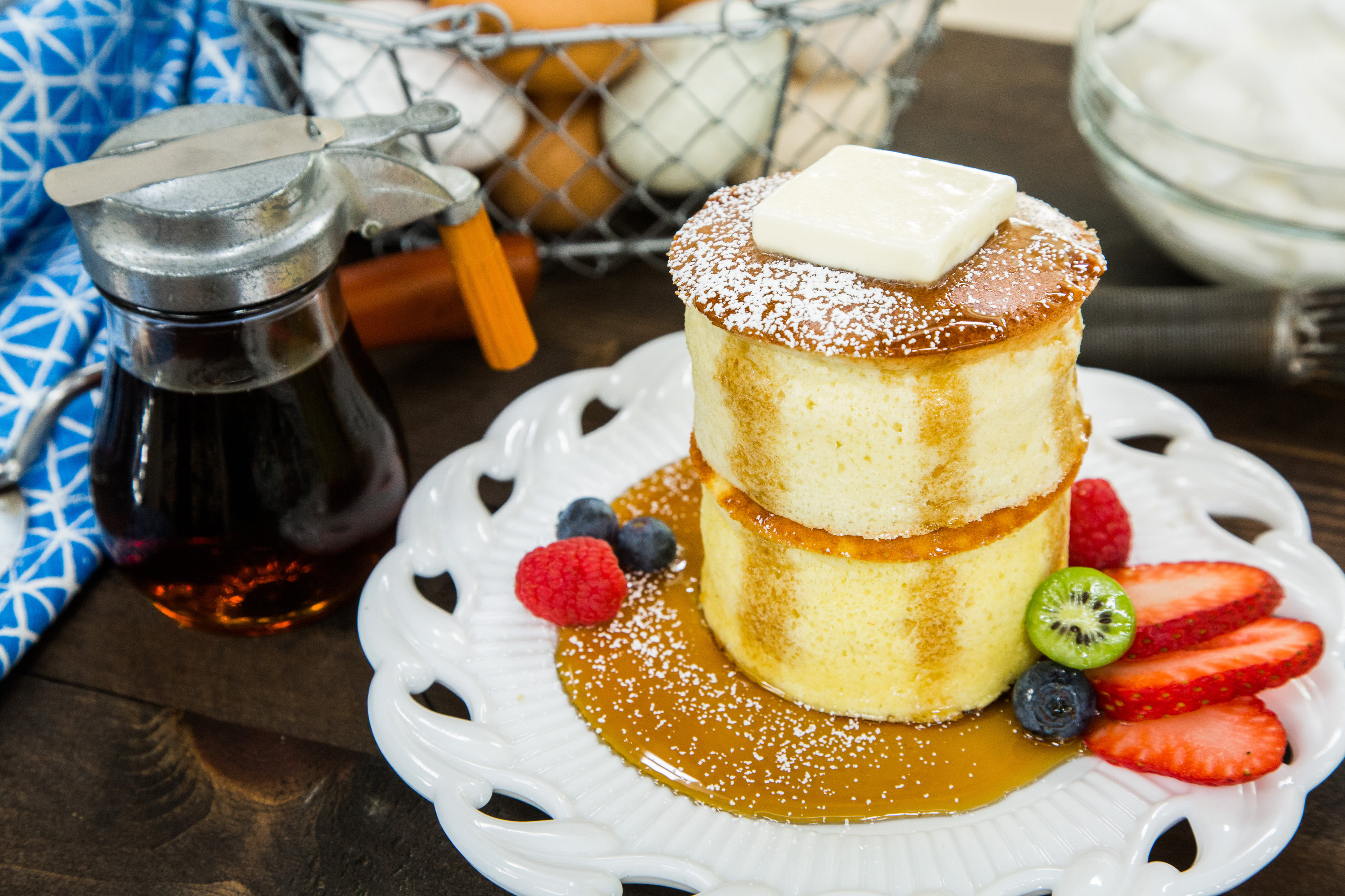 Recipes Fluffy Japanese Pancakes Hallmark Channel