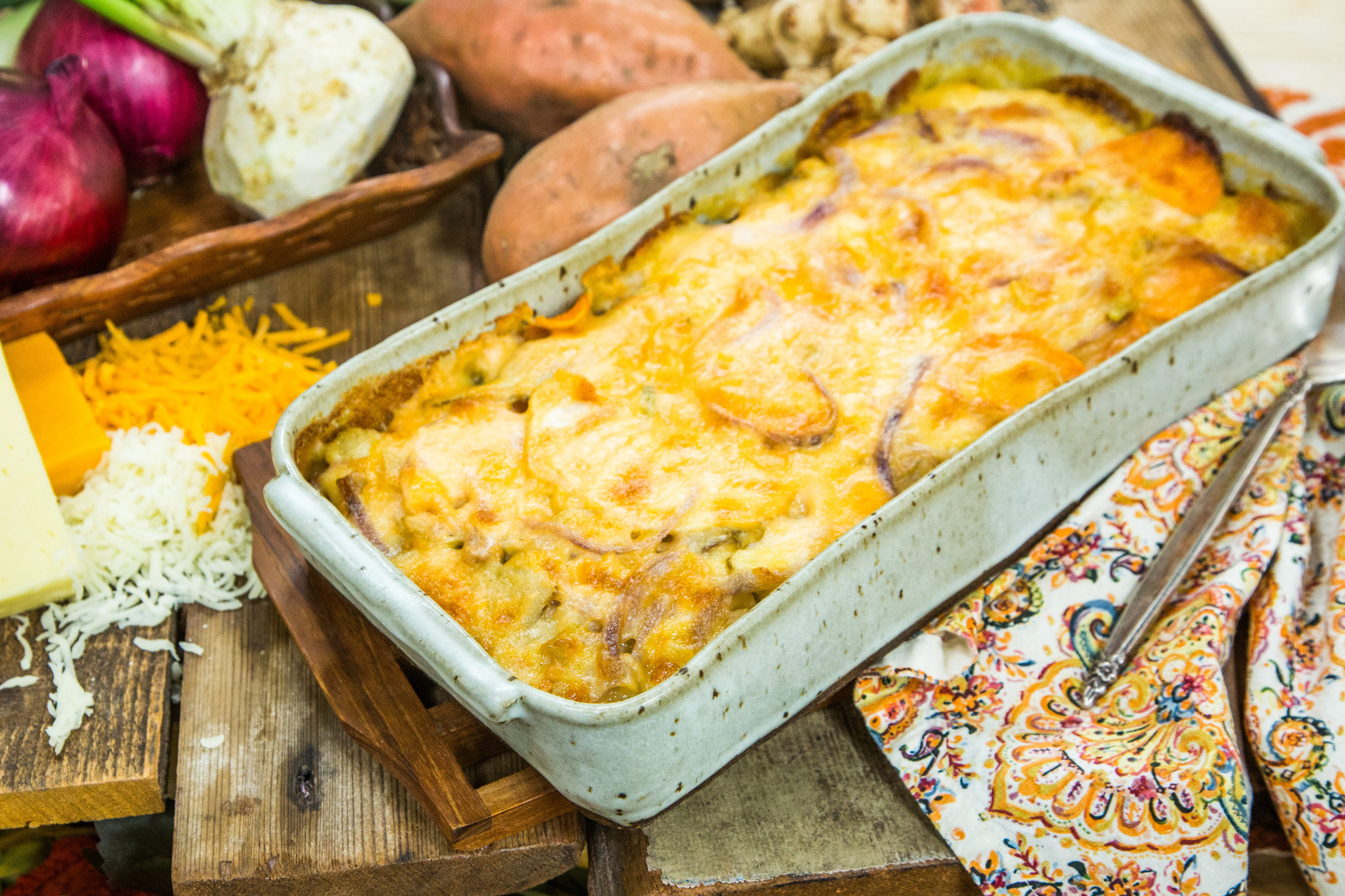 Recipes Roasted Root Vegetables With Four Danish Cheeses