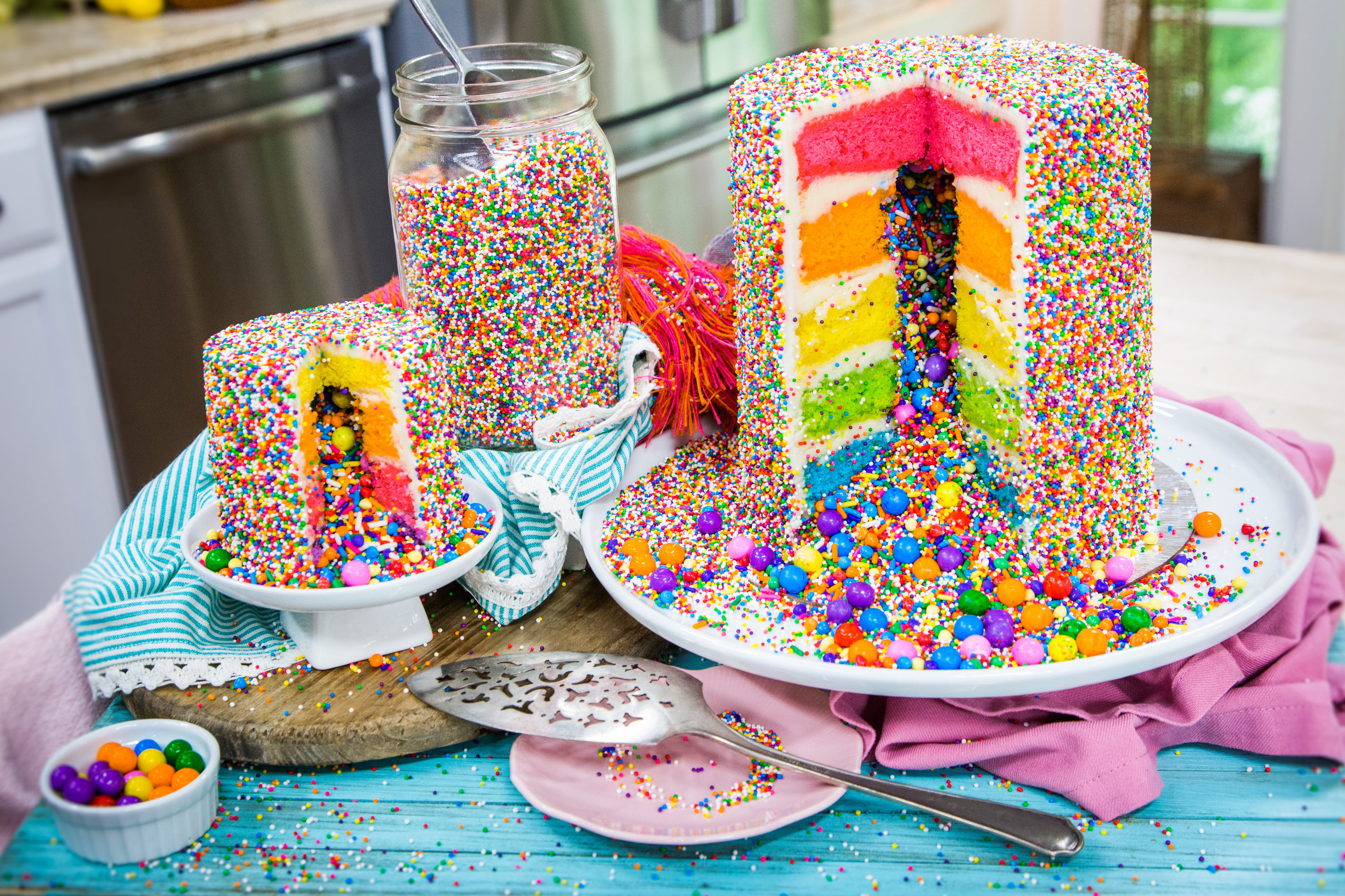 Astonishing Recipes Rainbow Explosion Cake Hallmark Channel Funny Birthday Cards Online Elaedamsfinfo