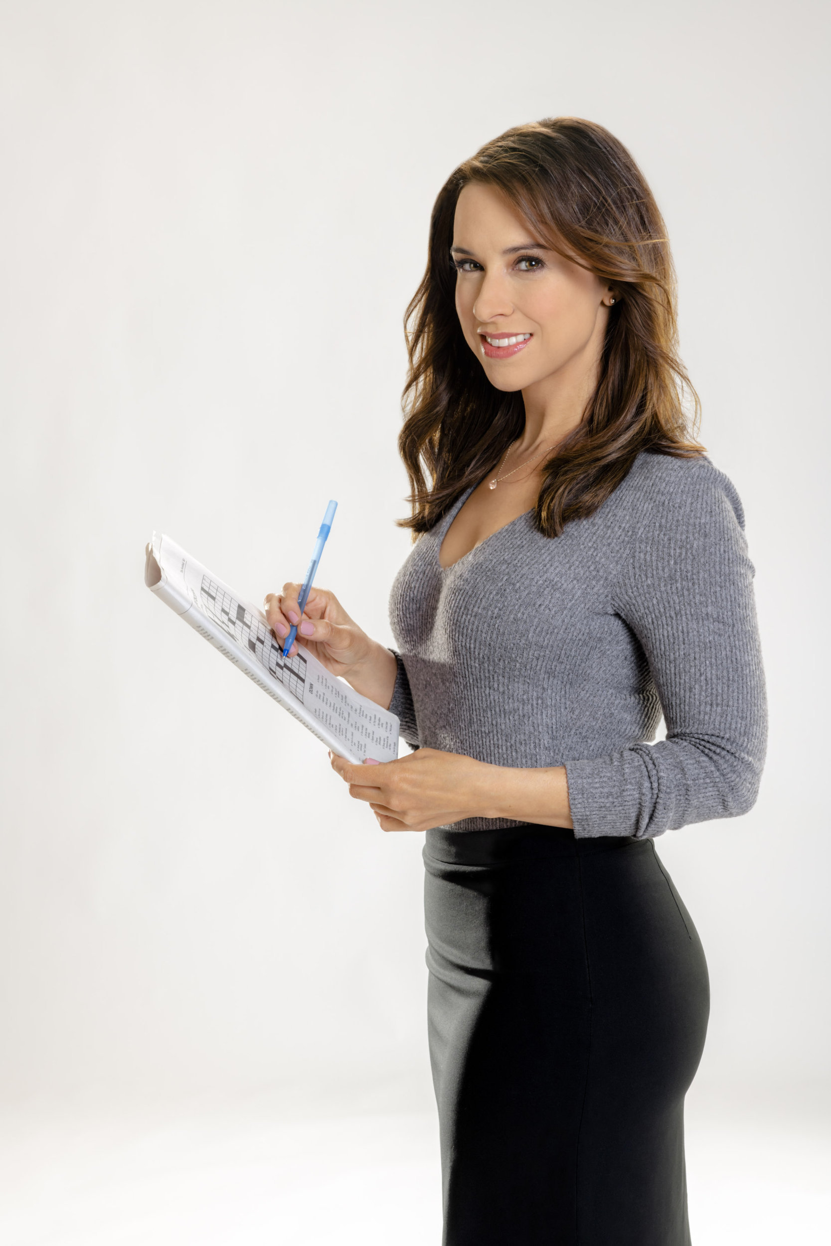 Lacey Chabert as Tess Harper on Crossword Mysteries ...