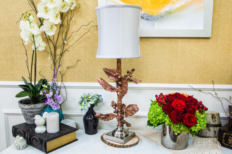 How To Diy Faux Paper Mache Flower Lamp Hallmark Channel