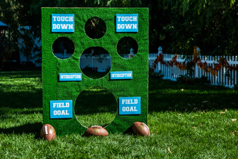 a few good pieces...: colossal modge podge fail (aka the ... |Football Toss Game
