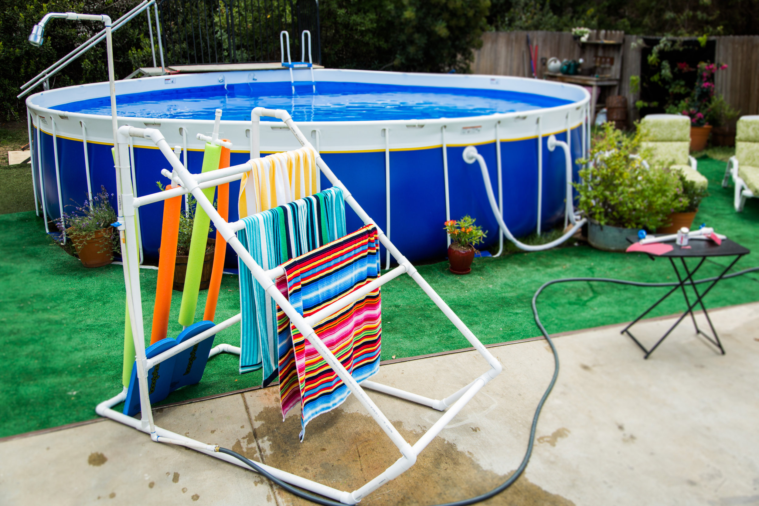 How To Diy Pvc Pipe Pool Caddy Home Amp Family