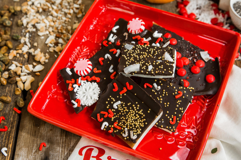 Christmas Bark.Chocolate Christmas Bark