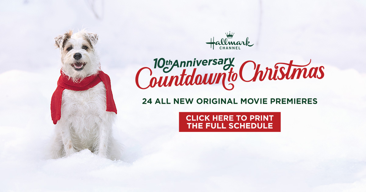 Christmas Countdown 2019.Movie Guide 2019 Countdown To Christmas Hallmark Channel