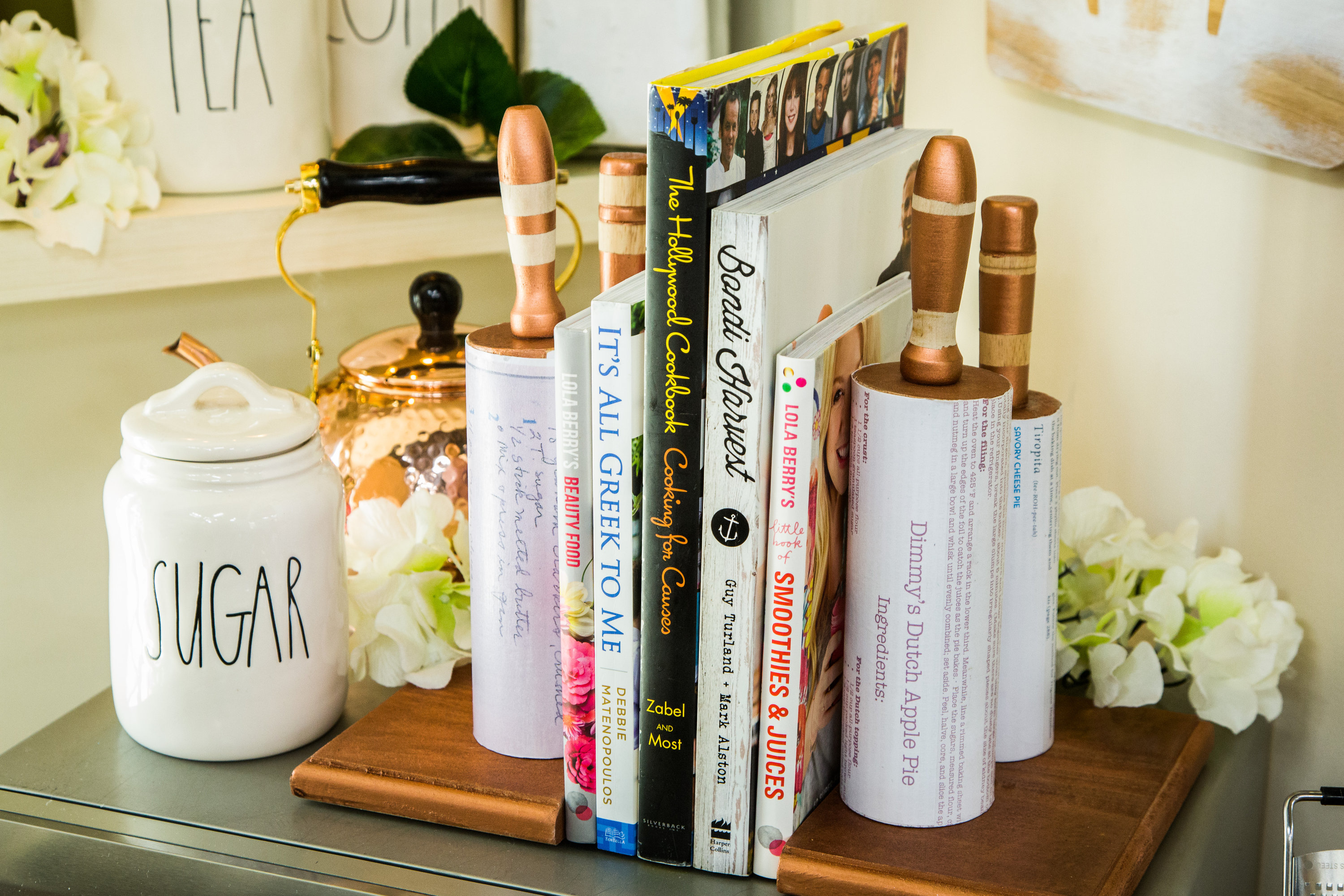 How To - DIY Rolling Pin Bookends | Hallmark Channel Greek Designs Home Diy on modern house entrance design, living room furniture and design, greek house construction, greek farmhouse plans, minimalist house floor plans and design, greek style house, greek architectural homes, greek architecture designs, greek floor plans,