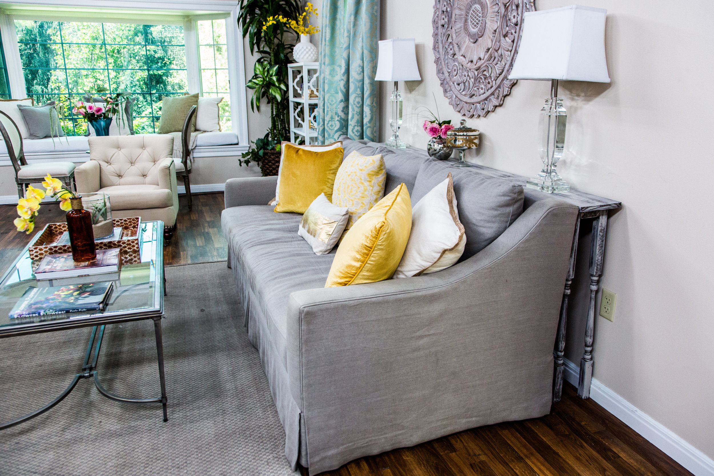 How-To - Paige's DIY Back-of-Couch Table - Home & Family ... Diy Sweepstakes