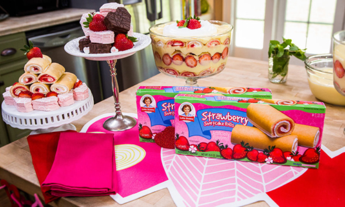 cristinas quick amp easy strawberry shortcake roll trifle