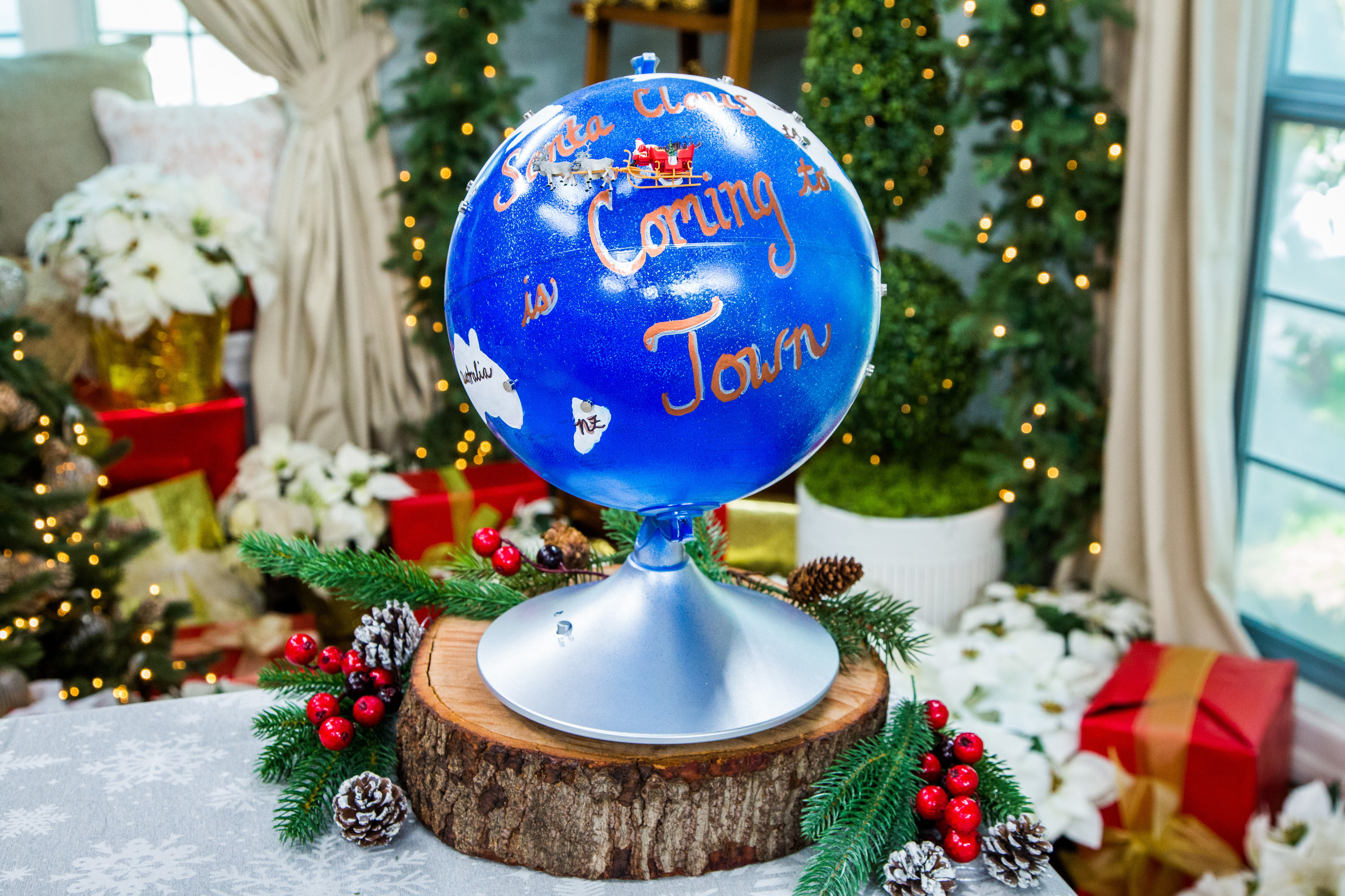 how to diy santa tracker globe hallmark channel