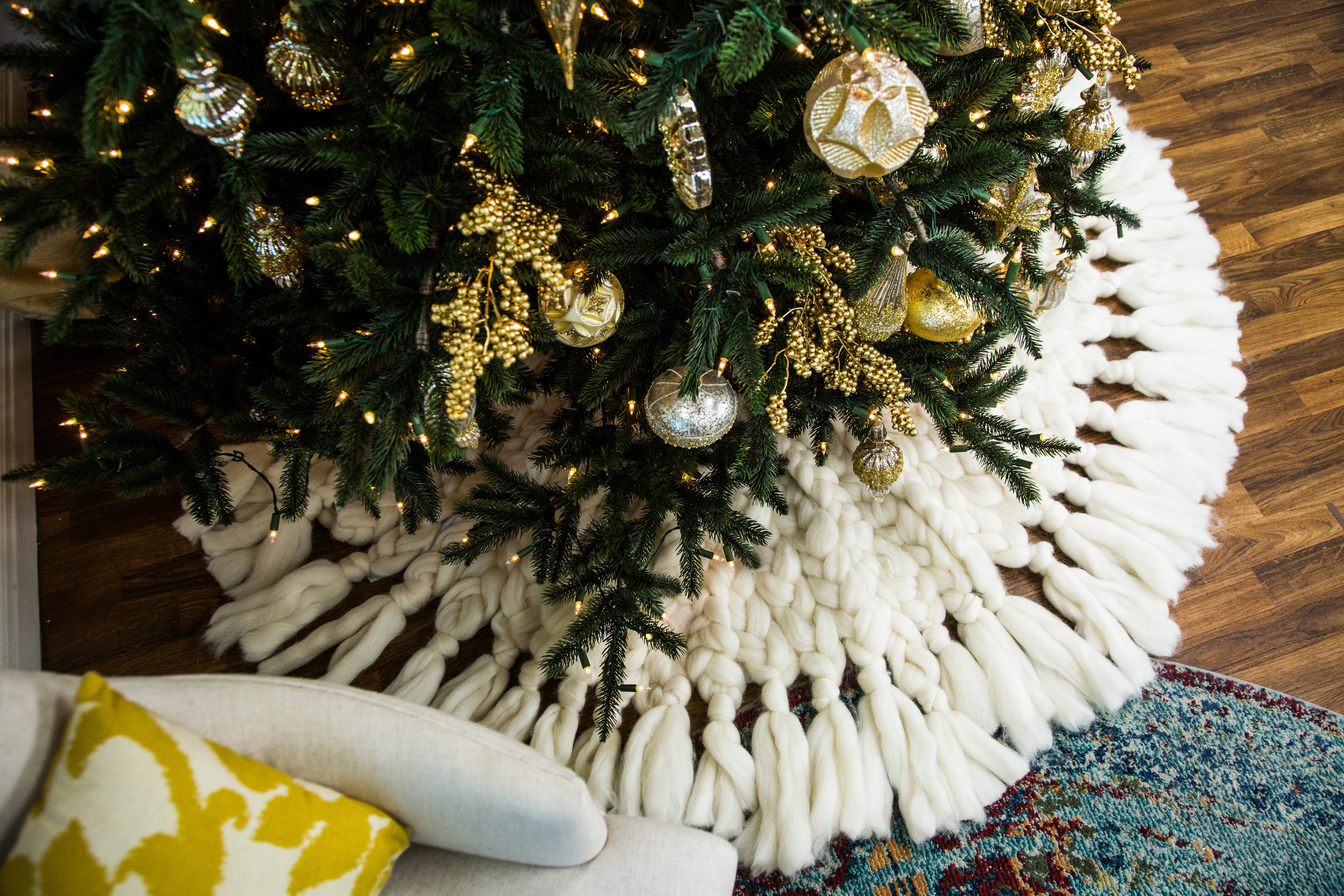how to diy knit christmas tree skirt hallmark channel