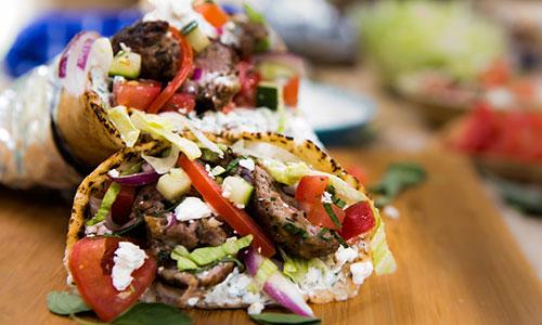 Cristina Cooks Lamb Gyros With Tzatziki Sauce Hallmark
