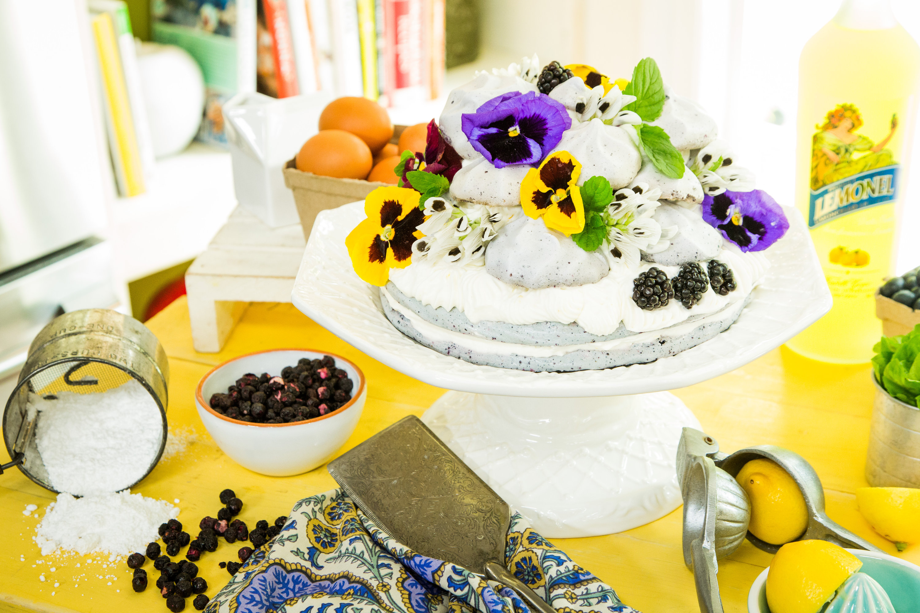 Recipes - Blueberry Almond Meringue Cake with Limoncello Cream ...