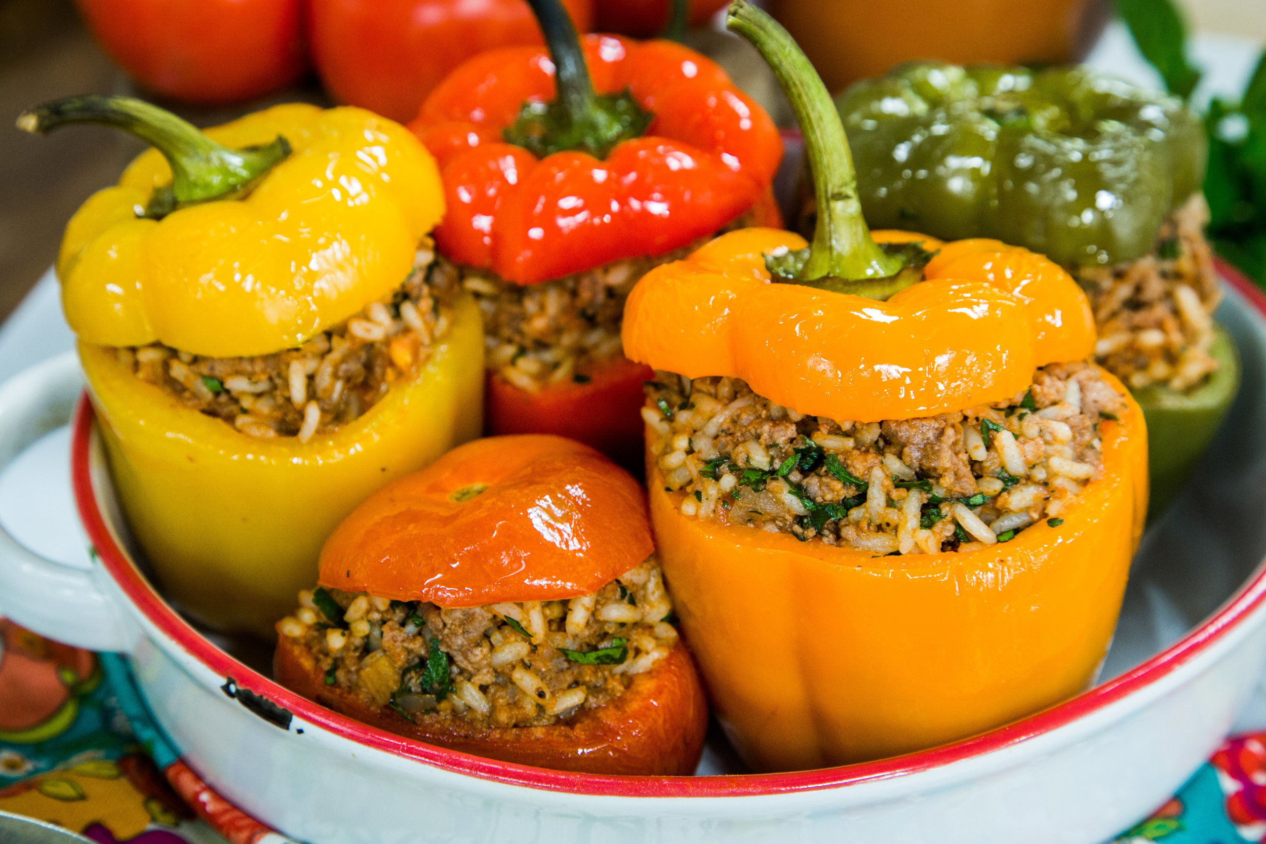 Recipe Home Amp Family Gemista Stuffed Peppers And