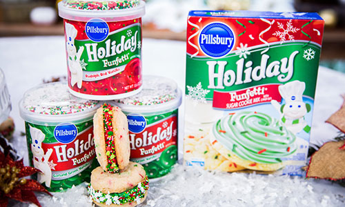 Holiday Funfetti Sandwich Cookies