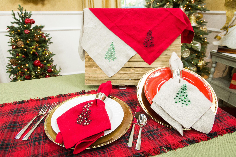 Christmas Napkins.How To Diy Christmas Napkins Hallmark Channel